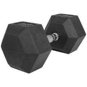 Dumbell - 30 kg - Gietijzer (rubber coating) - Hexagon - Gorilla Sports